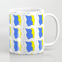 flag of canary islands-canaries,canary,atlantic,canarias,Canarian,canario,canaria,spain,spanish, Coffee Mug by oldking