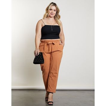 Plus Size Carry On Paperbag Pants