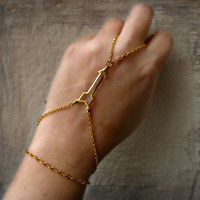golden arrow slave bracelet, bracelet ring, tribal bracelet, unique bracelet, slave ring