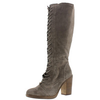 Steve Madden Womens Nidea Suede Lace Front Combat Boots