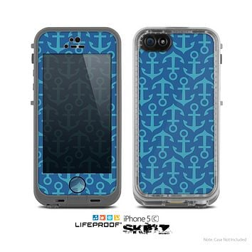 The Blue Anchor Collage V2 Skin for the Apple iPhone 5c LifeProof Case