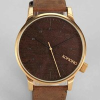 KOMONO Winston Gold Wood Watch