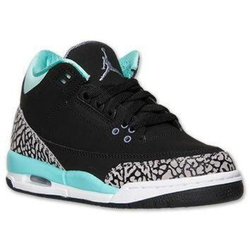 LMFIW1 Girls' Grade School Air Jordan Retro 3 Basketball Shoes