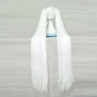 Dream2reality Cosplay_Vocaloid Family_hatsune another hakane_2 ponytails_120cm_white_kanekalon wig