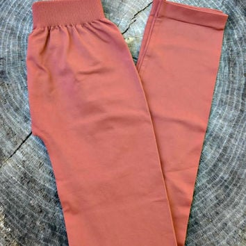BACK TO BASICS: Leggings - Terra Cotta