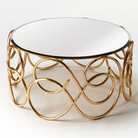 Concerto Transitional Round Cocktail Table Gold