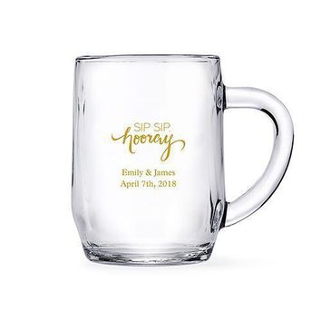 Clear Glass Coffee Mugs - Personalized (Pack of 1)