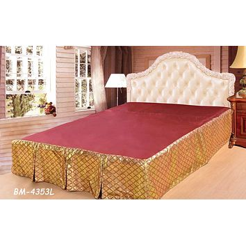 Tache Golden Diamond Net Bed Skirt (BSK-4353LC)