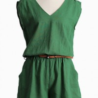 blissful meadow belted romper