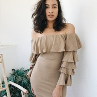 CHLOE DRESS - TAN