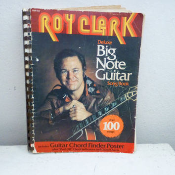 Roy Clark, Big Note Songbook, country music, folk music, country singer, play guitar, sheet music, vintage music, musicbook, guitar chords