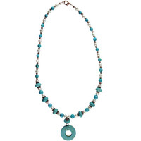 Turquoise and White Pearls by Garrett Jewelry