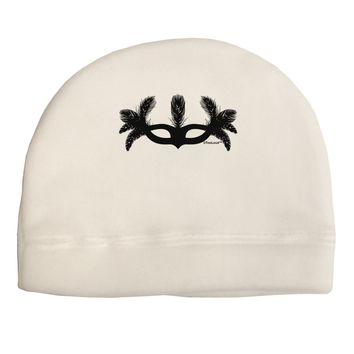 Masquerade Mask Silhouette Adult Fleece Beanie Cap Hat by TooLoud