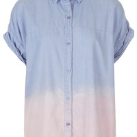 MOTO Dip Dye Denim Shirt - New In This Week - New In - Topshop