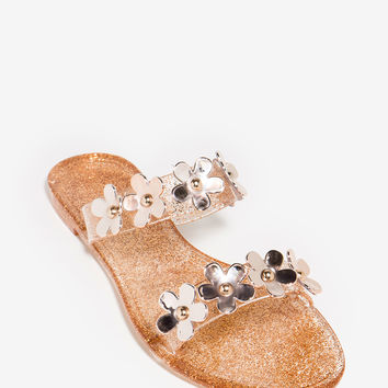 Dalia-05 Go With The Floral Slide Sandal