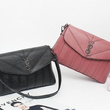 Women Simple Fashion Y Letter Single Shoulder Messenger Bag Handbag