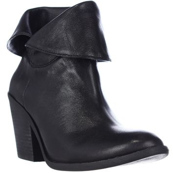 Lucky Brand Ethann Foldover Ankle Booties, Black, 7 US