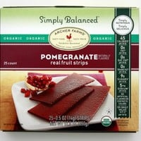 Archer Farms Organic Pomegranate real fruit strips 25 count