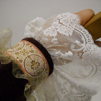 Victorian with a hint of Steampunk Velvet & Lace by StitchKnit