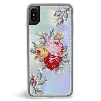 Bouquet Embroidered iPhone X Case