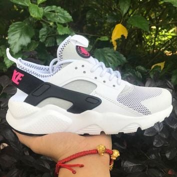 Nike Air Huarache 4 Rainbow Ultra Breathe Men Women Hurache White/black Running Sport Casual Shoes Sneakers 109
