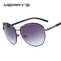 Women Fashion Love Chain Sunglasses Women Brand Designer Flowers Sunglasses Alloy Frame Gradient UV400 Lens