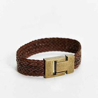 Profound Aesthetic Leather Woven Bracelet-