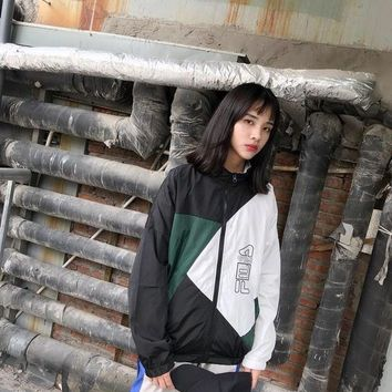 KUYOU FILA Limited color block jacket