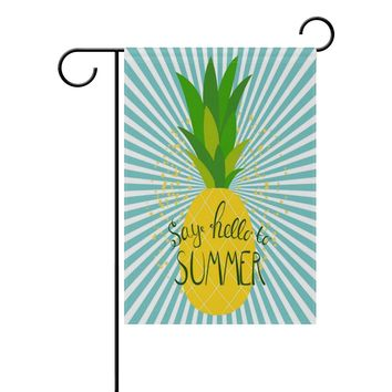 EVERUI Summer Pineapple Garden Flag Decorative Flag for Yard Home and Wedding Garden Decor 12 x 18 Inch 100% Polyester Printed on Both Sides