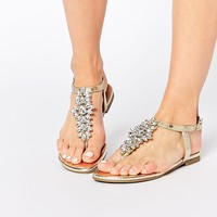 New Look Fiance Embellished Flat Sandals