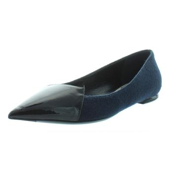 Dior Womens Spade Patent Leather Pointed Toe Ballet Flats