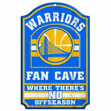 Golden State Warriors No Offseason 11x17 Wood Fan Sign