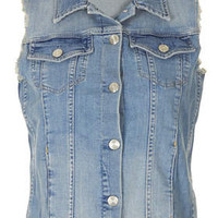 Internet Exclusive - Bleach Sleeveless Denim Jacket - Bleach Stone