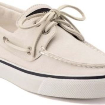 Sperry Top-Sider Bahama Canvas 2-Eye Boat Shoe White, Size 9M  Women's Shoes