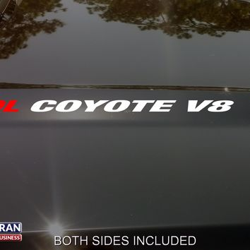 5.0L COYOTE Hood Vinyl Decals Stickers Fit: Ford Mustang F150 Boss V8