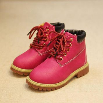 CREYUG3 Shoes Winter Anti-skid Children Korean Dr Martens Stylish Boots [4919304132]