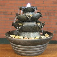 SheilaShrubs.com: Three Tier Cascading Tabletop Fountain w/ LED Lights XSS-895 by Sunnydaze Decor: Tabletop Fountains
