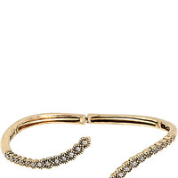 ALL THAT GLITTERS CRYSTAL AND GOLD CUFF GOLD