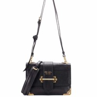 Cahier leather shoulder bag