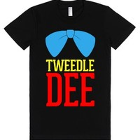 Tweedle Dee (Junior)-Female Black T-Shirt