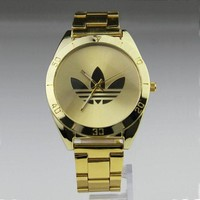 LMFON5L Stainless Steel Band Men Gold Watch Hot Sale Quartz Watch [415628754980]