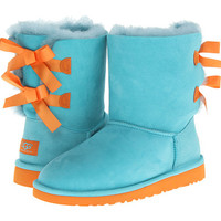 UGG Kids Bailey Bow (Big Kid) Blue Curacao/Marigold - Zappos.com Free Shipping BOTH Ways