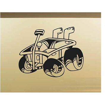 Little Red Wagon Car Wall Decal - Auto Wall Mural - Vinyl Stickers - Boys Room Decor