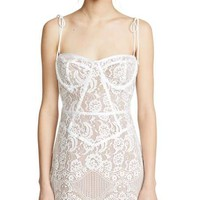 Sweet Anne White Lace Corset Mini Dress