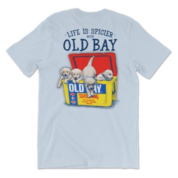 Old Bay Cooler with Puppies (Chambray) / Shirt