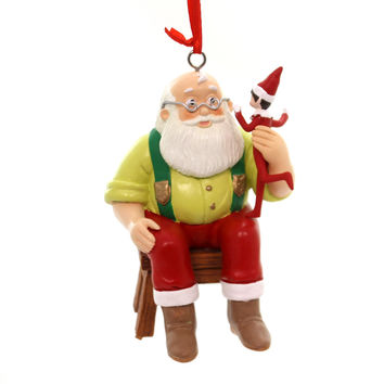 Holiday Ornaments ELF ON SHELF REPORTS TO SANTA Polyresin Department 56 4056877