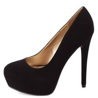 Almond Toe Hidden Platform Pumps by Charlotte Russe