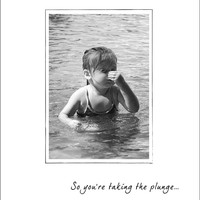 "Engagement Card ""Taking the Plunge"" - Wedding Congratulations Card  - Wedding Shower Card - Wedding Note Cards"