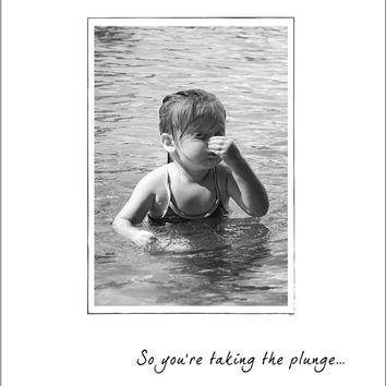 """Engagement Card """"Taking the Plunge"""" - Wedding Congratulations Card  - Wedding Shower Card - Wedding Note Cards"""