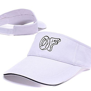 XINMEN Odd Future Logo Adjustable Visor Cap Embroidery Sun Hat Sports Visors - White
